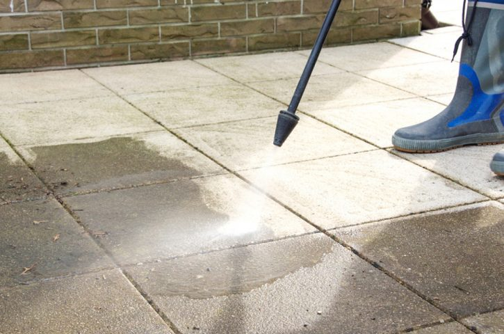 Pressure Washing The House Down